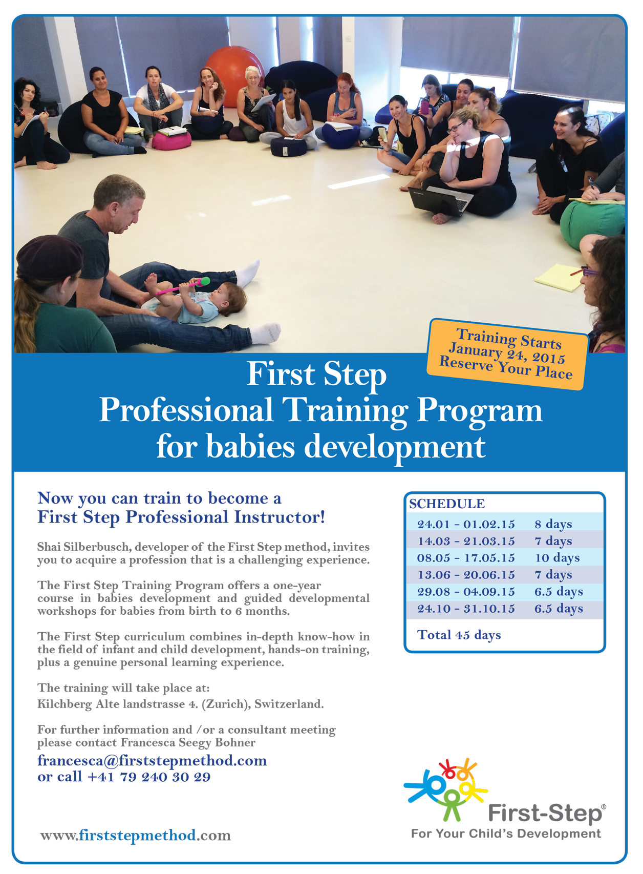 First Step To Success: First Step Professional Training Program For Babies